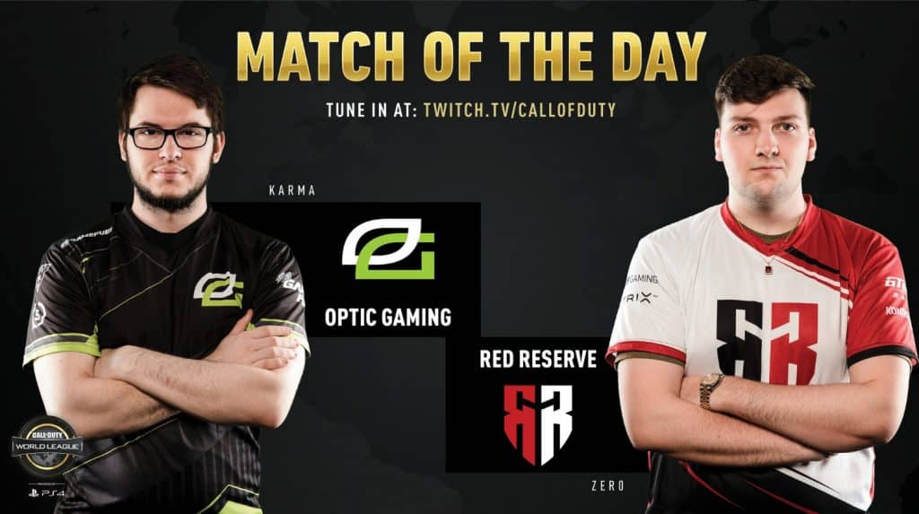 CWL Pro League Match of the Day OpTic Gaming Comeback vs Red Reserve Karma Zer0