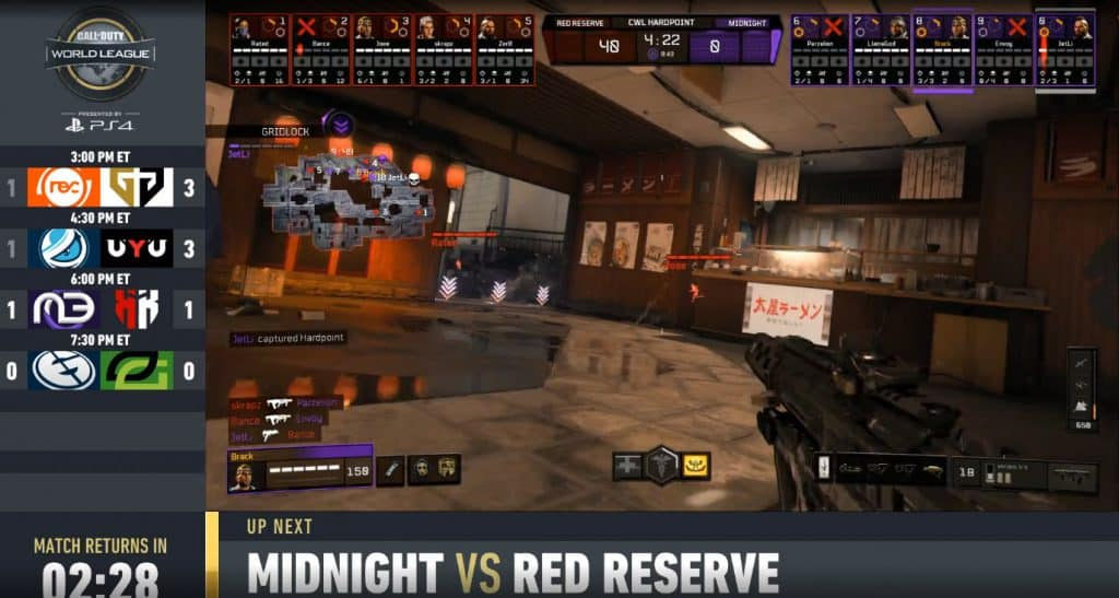 CWL Pro League Midnight VS Red Reserve Day 3 Call of Duty Esports