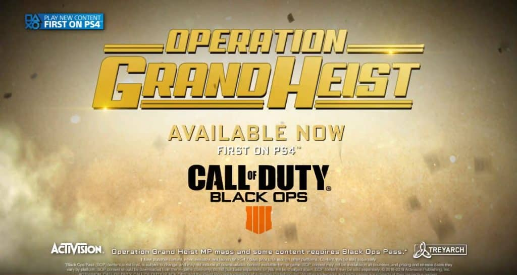 Call of Duty Operation Grand Heist February 19 2019