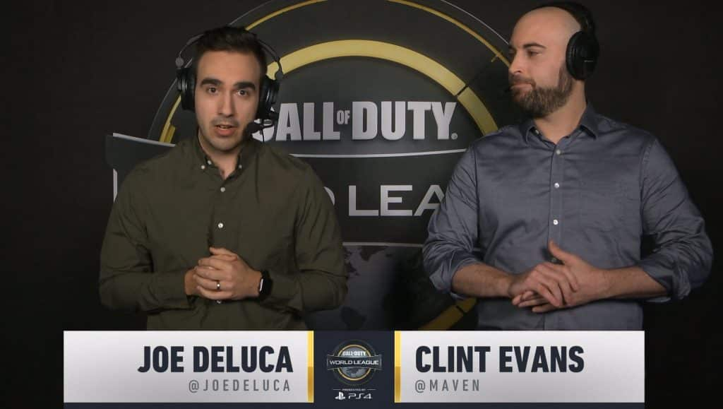 CoD casters Joe Deluca and Clint Evans 2019 CWL Pro League Call of Duty Esports