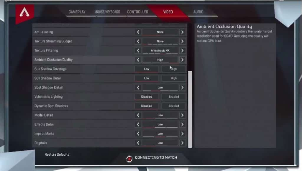 Dr Disrespect Apex Legends Video Settings