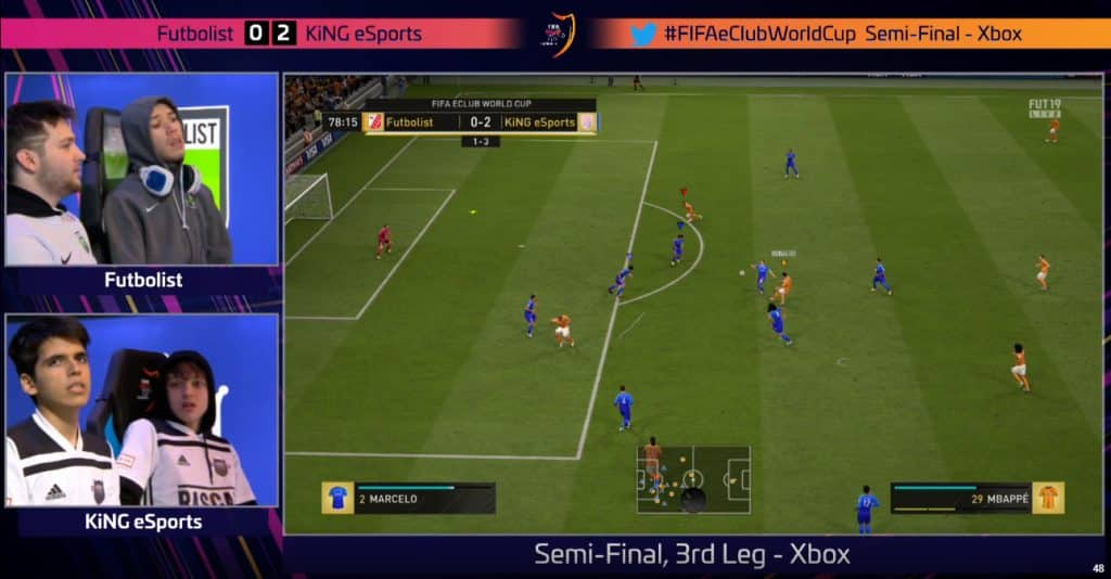 Fifa eClub World Cup Crash Futbolist KiNG eSports FIFA 19 Xbox PS4