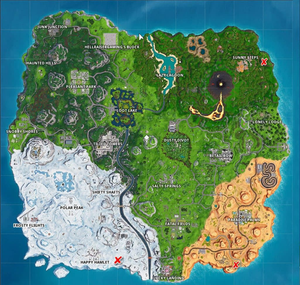 Fortnite 3 giant face location challenge