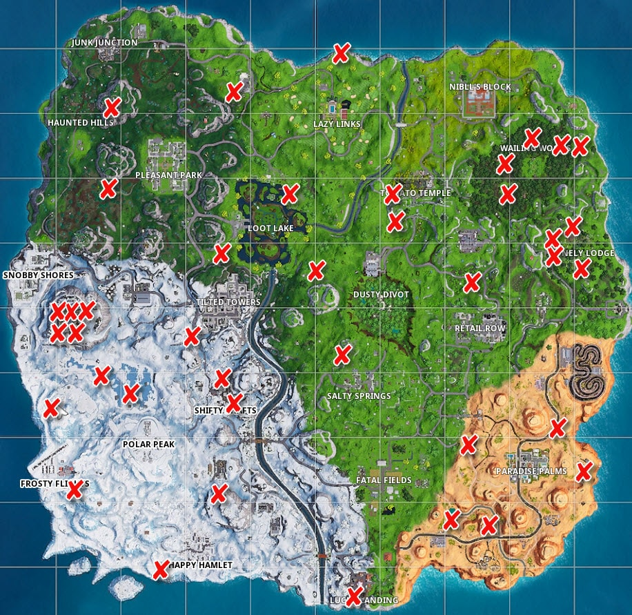 Fortnite Campfire Locations