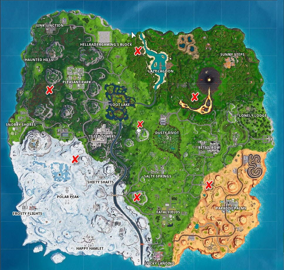 Fortnite Pirate Camps Locations