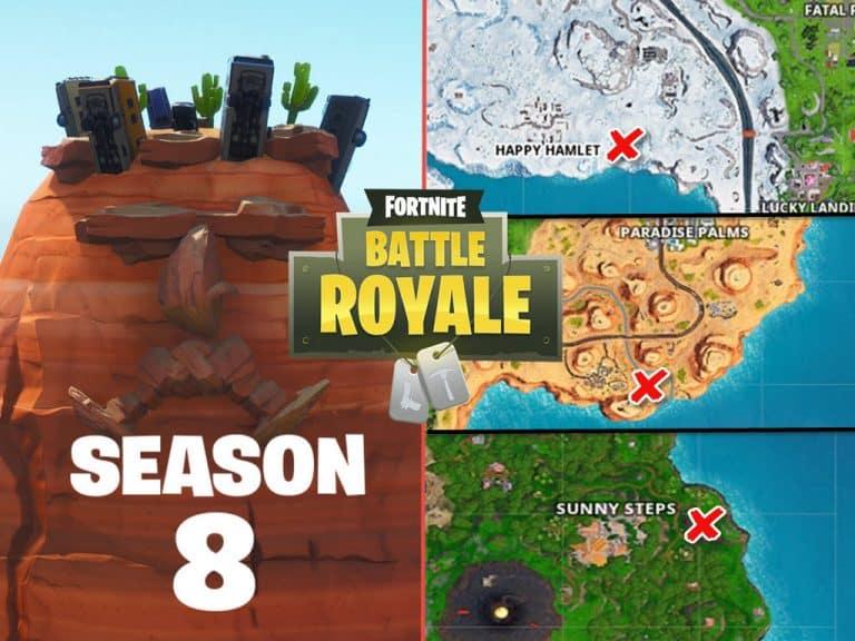 Fortnite Season 8 Giant Face Challenge Locations