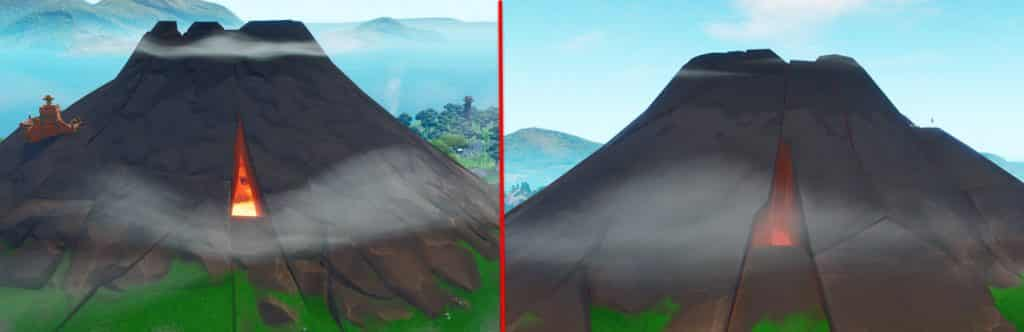 Fortnite Volcano Side entrances