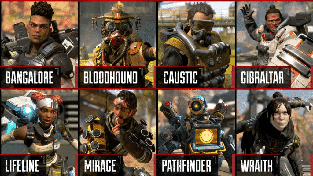 Leaked Players for Apex Legends characters