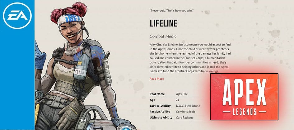 Lifeline Apex Legends Combat Medic Character Special Finisher EA Games