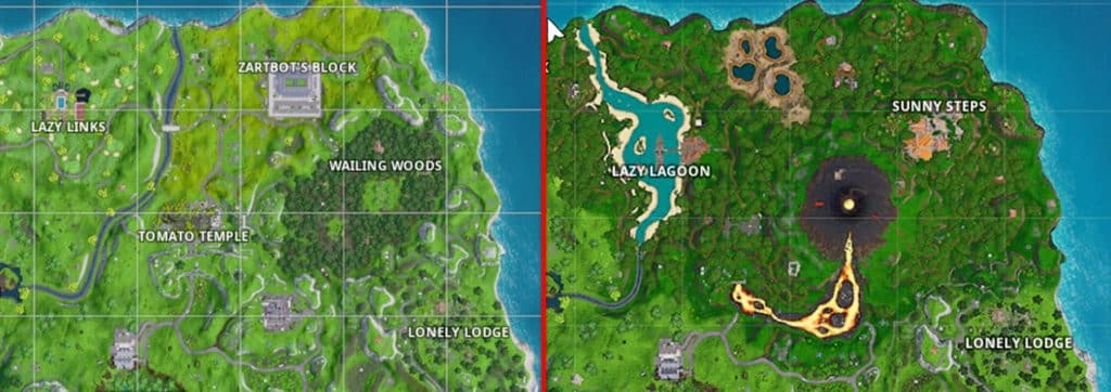 Map changes fortnite Season 8