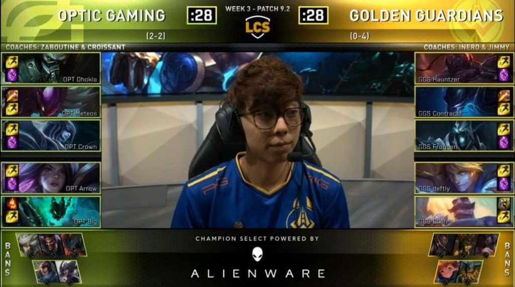 OpTic Gaming vs Golden Guardians League of Legends LCK LoL Esports