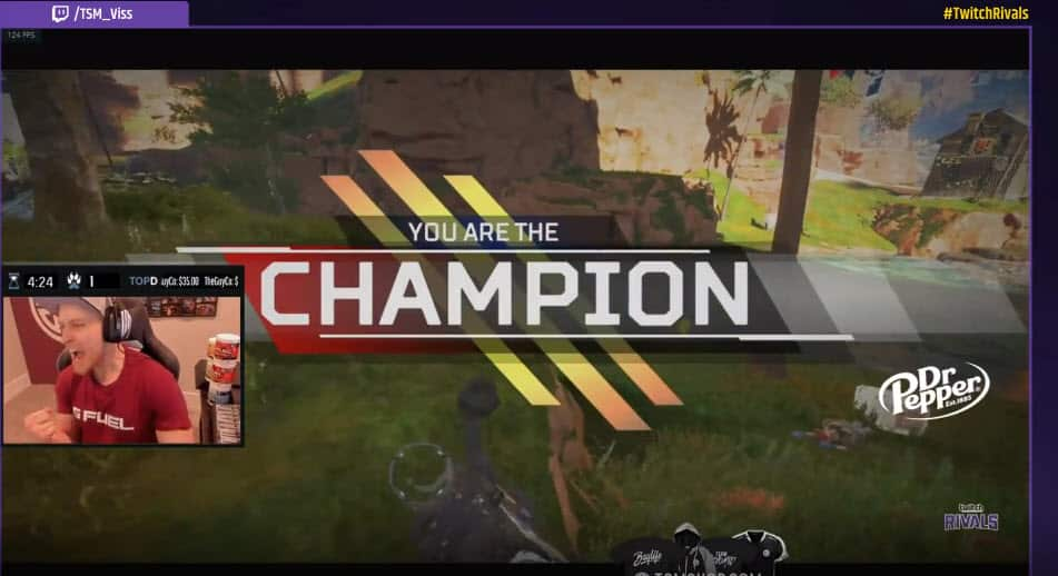 TSM Viss 1v3 Clutch. Best Twitch Rivals Apex Legends Moment Champion