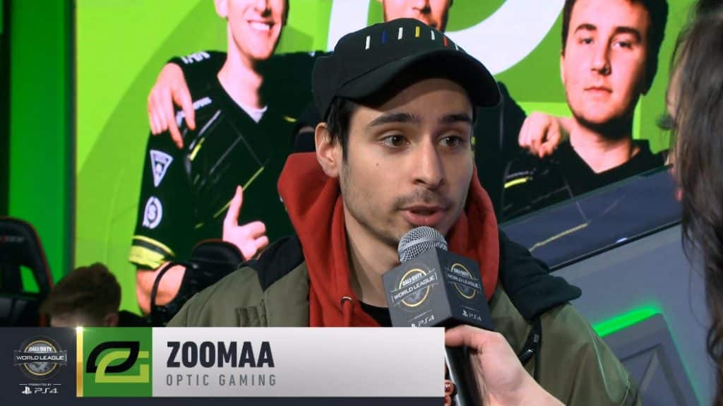 ZooMaa Gives His Thoughts on Playing With OpTic Gaming Call of Duty world League Pro League 2019 Esports
