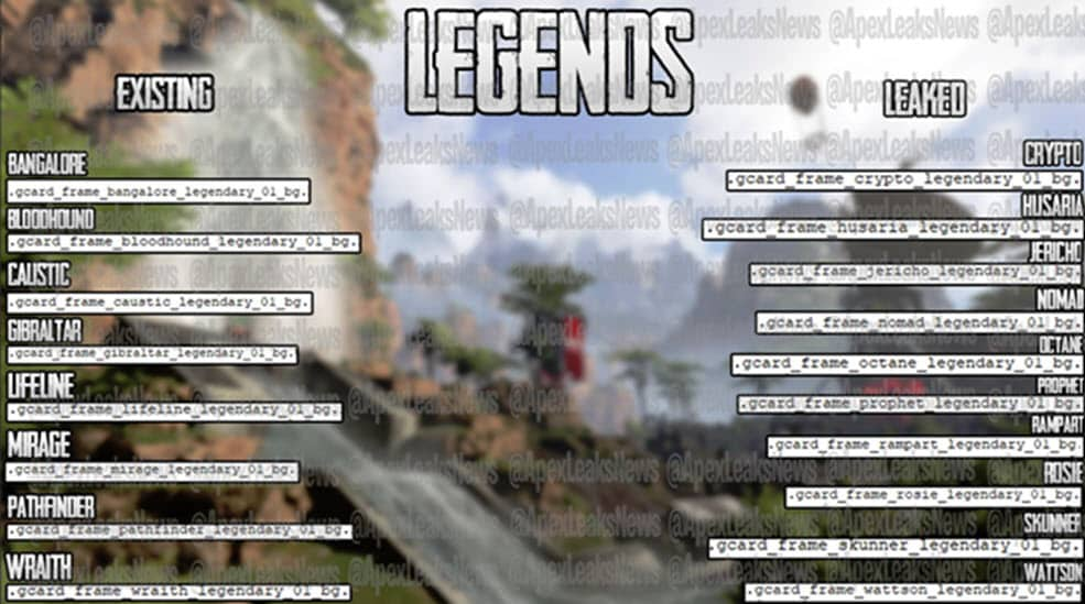 new legends characters for apex