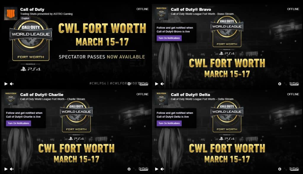 All Call of Duty Twitch Streams to watch CWL