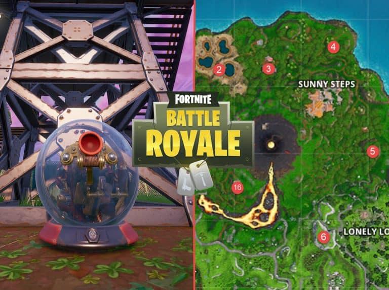 All Fortnite Baller Map locations