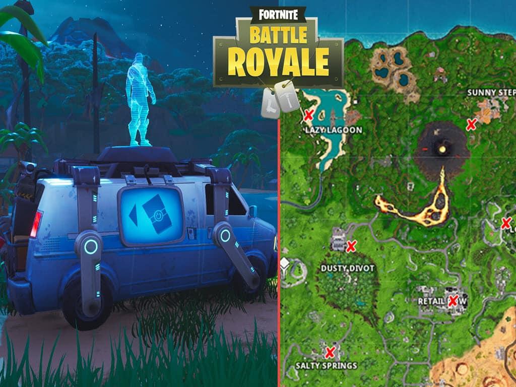 All Fortnite Respawn Van Map locations