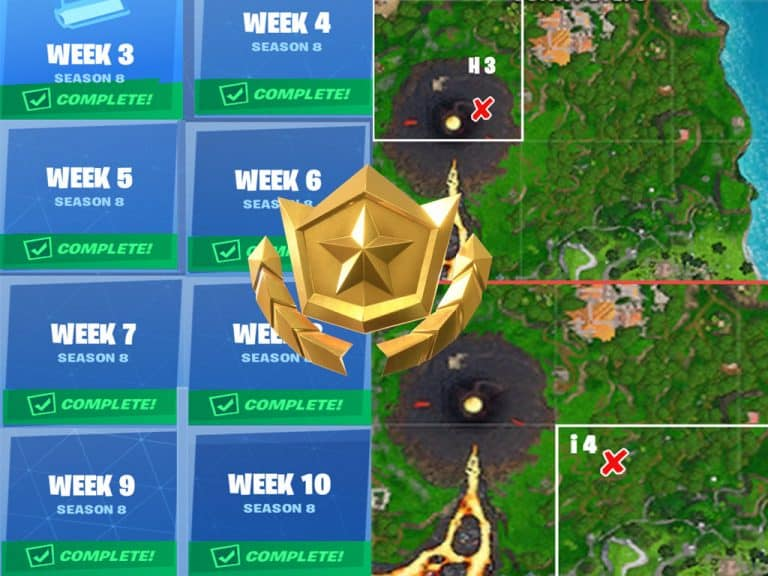 All Fortnite Season 8 Secret Battle Star And Banner Locations