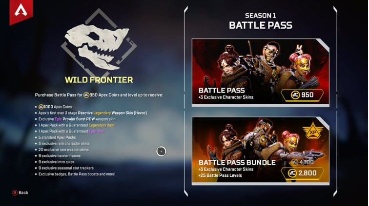 Apex Legends Battle Pass Cost Bundle