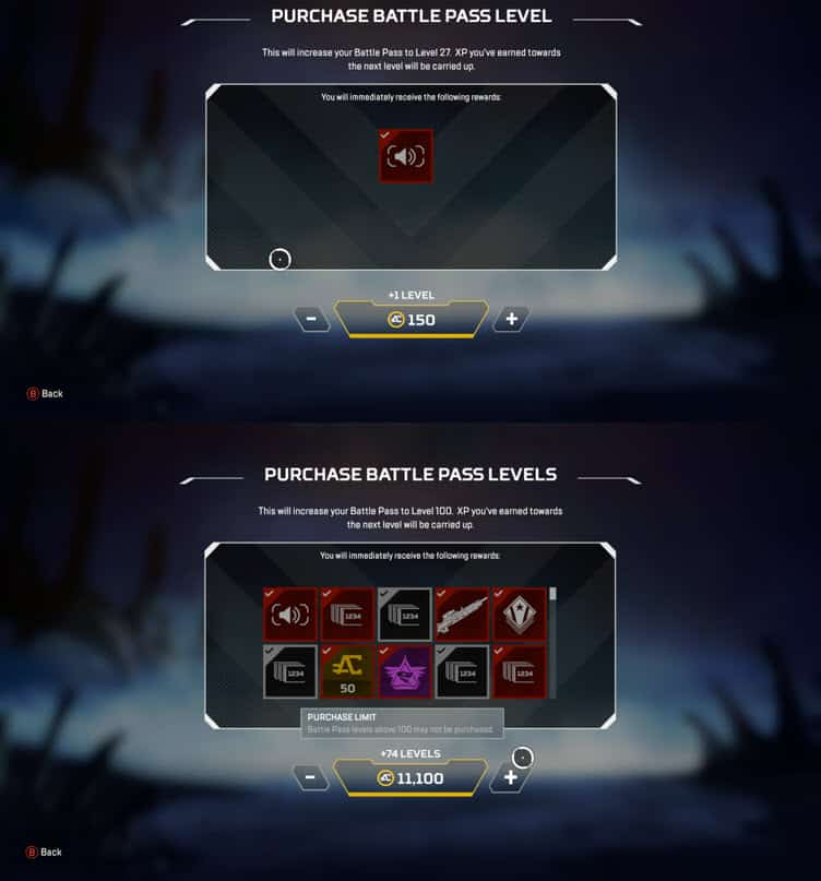 Apex Legends Battle Pass Level