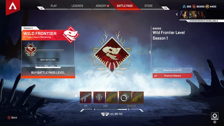 Apex Legends Battle Pass Max level