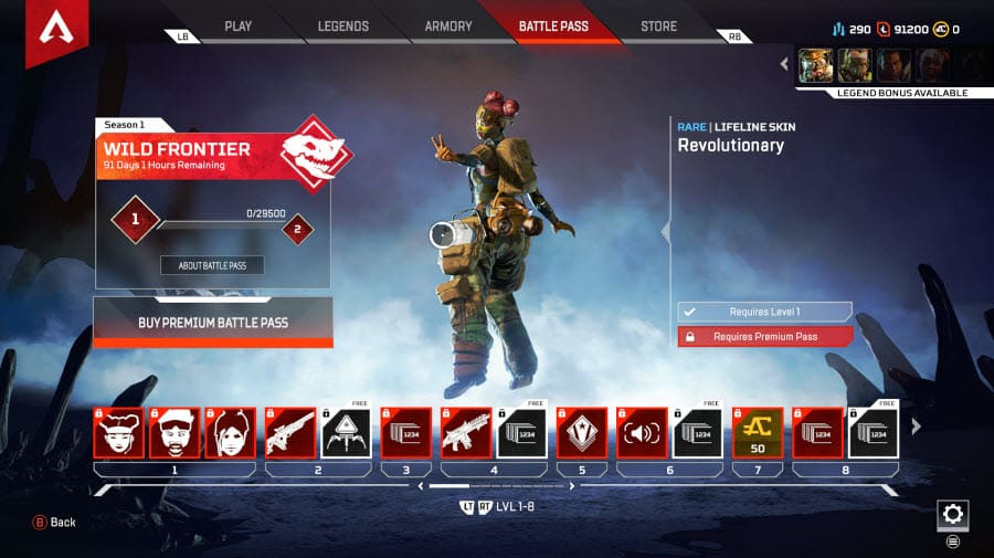 Apex Legends Battle Pass Wild Frontier