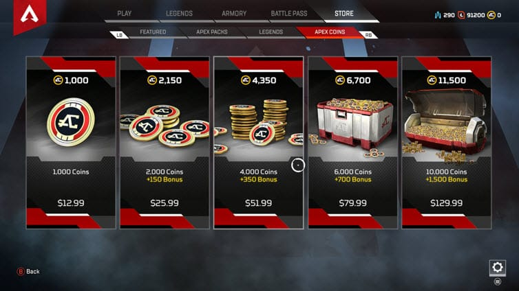 Apex Legends Coins Canadian Dollar
