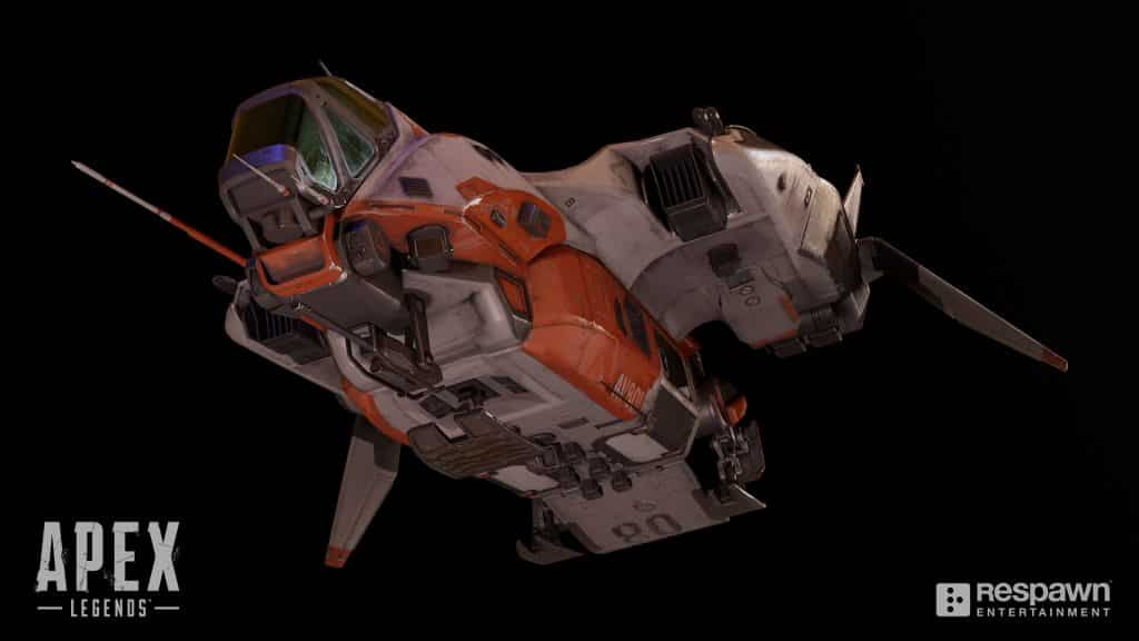 Apex Legends Dropship Chris Burks Front View HD 3D Image