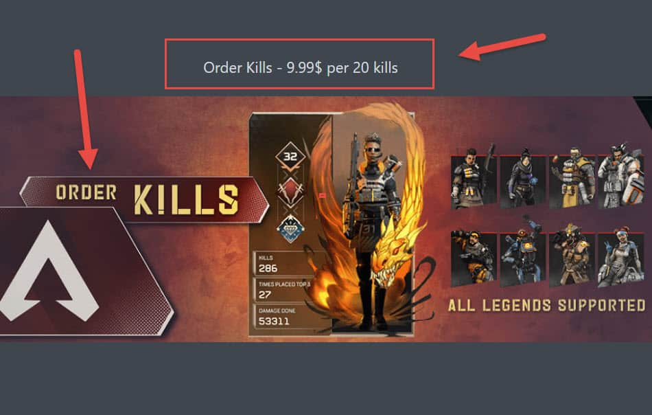 Apex Legends Order Kills Boosting Service