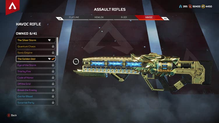 Apex Legends The Golden Idol Havoc Skin