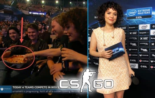 CSGO Host Takes Pizza from Fan at IEM Katowice Frankie Ward @getfrank