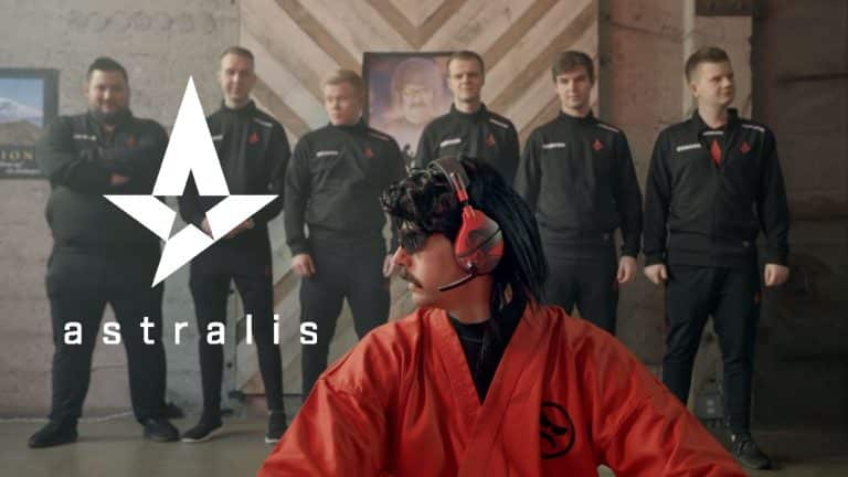 Dr Disrespect Coaching Astralis to Trash Talk in CSGO Video