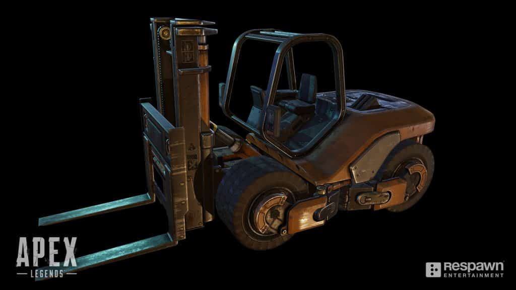 Forklift in Apex Legends Concept Art Chris Burks