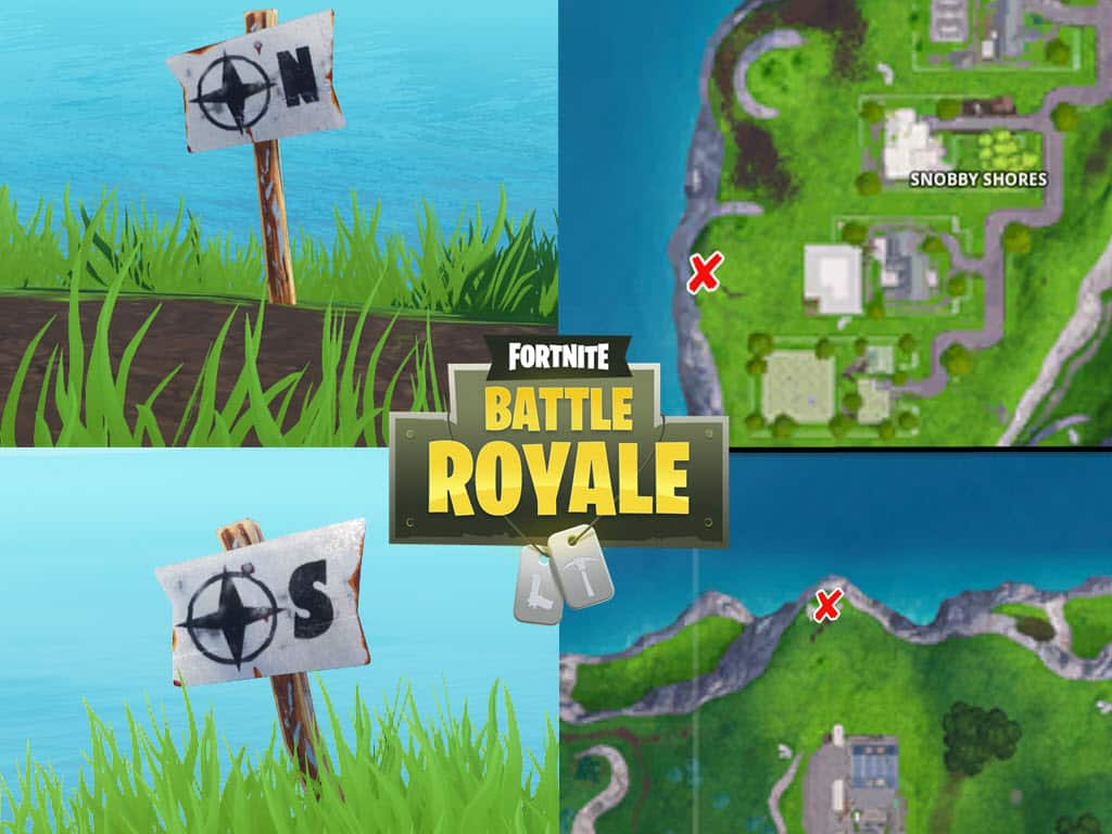 Fortnite Furthest North South East West Point Locations