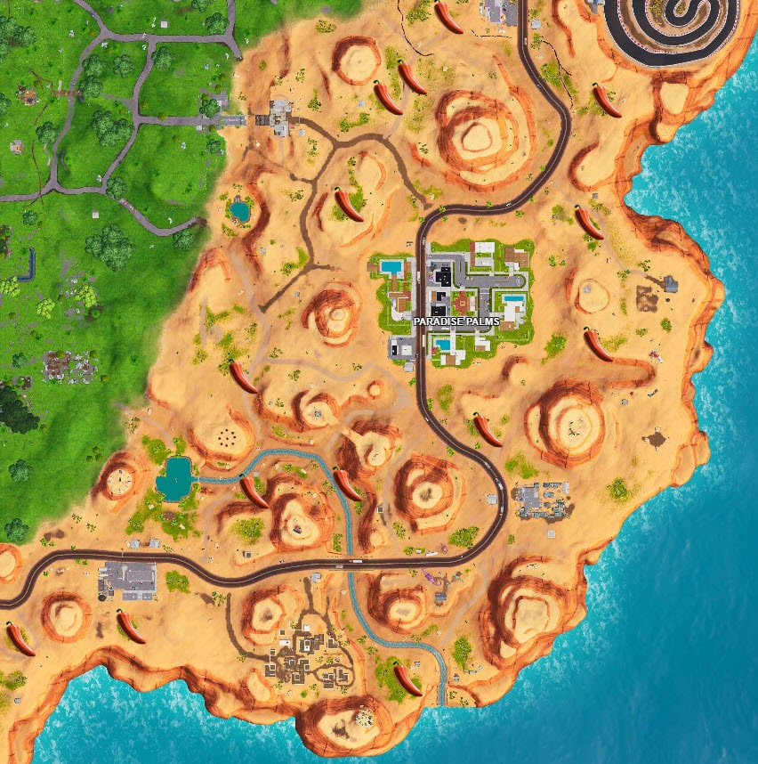 Fortnite Peppers Areas