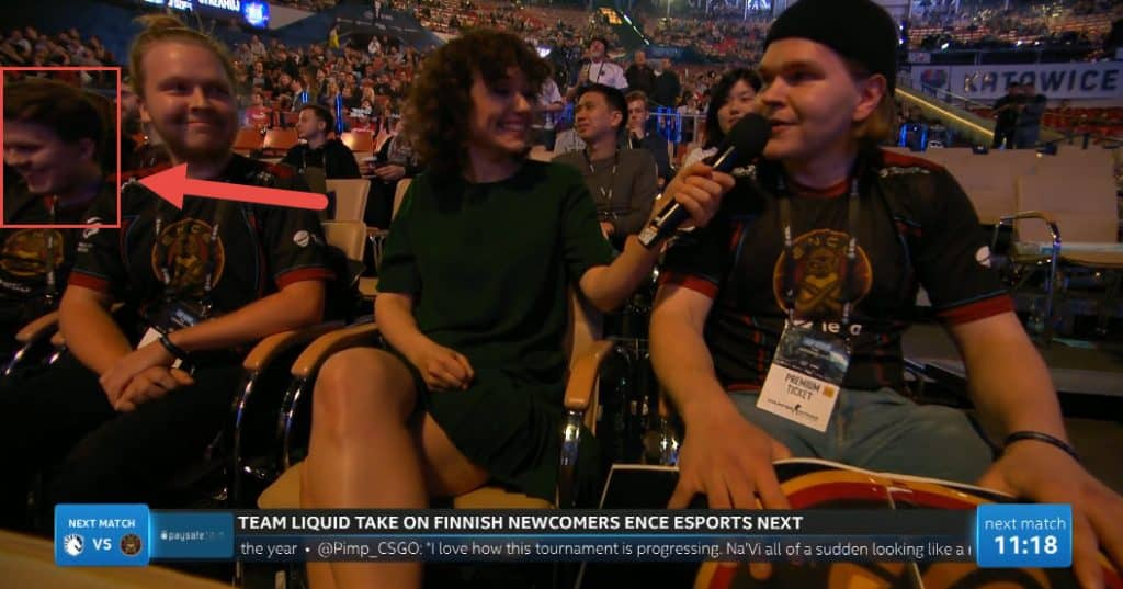 Frankie Ward Interviews ENCE Fan Olef Friend Laughs
