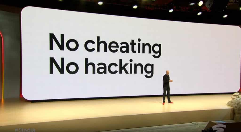 Google Stadia No Hacking Cheating