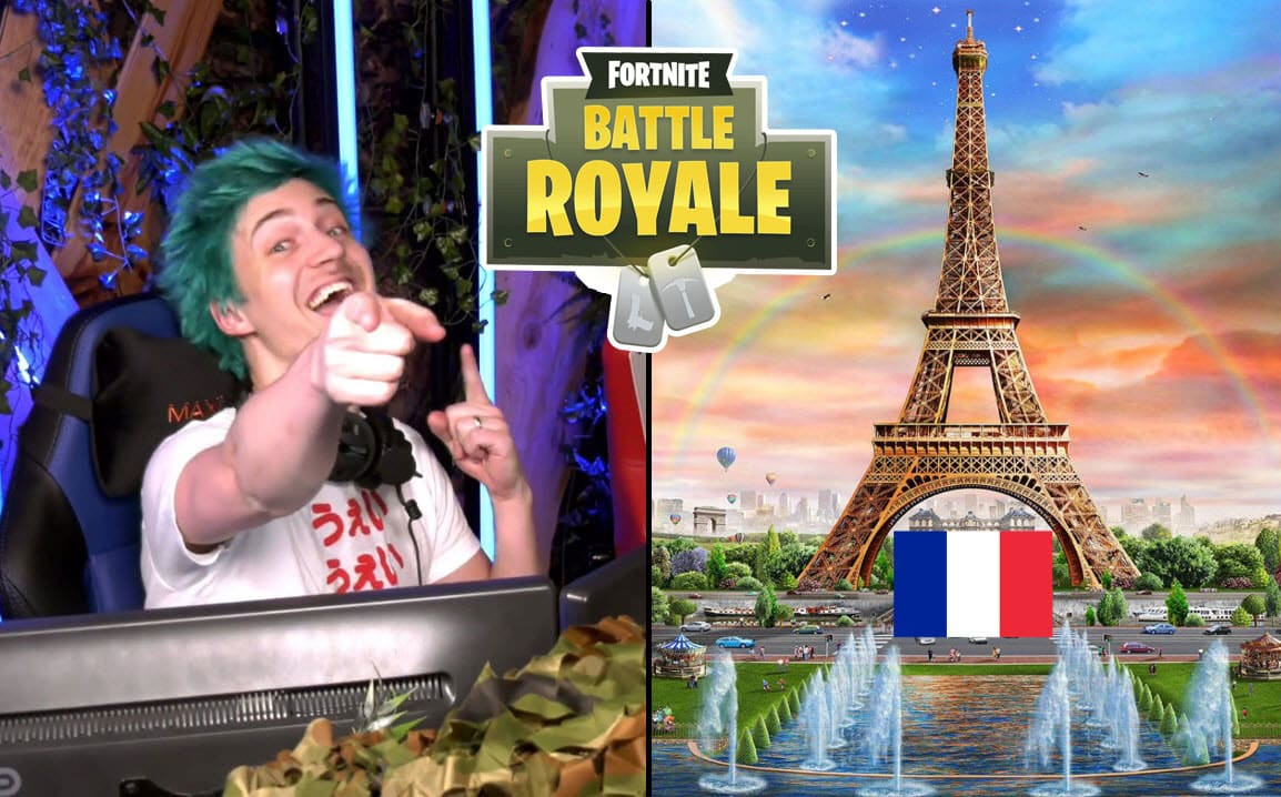 Ninja Learns to Speak French. Makes Sexual Reference in Fortnite Battle Royale