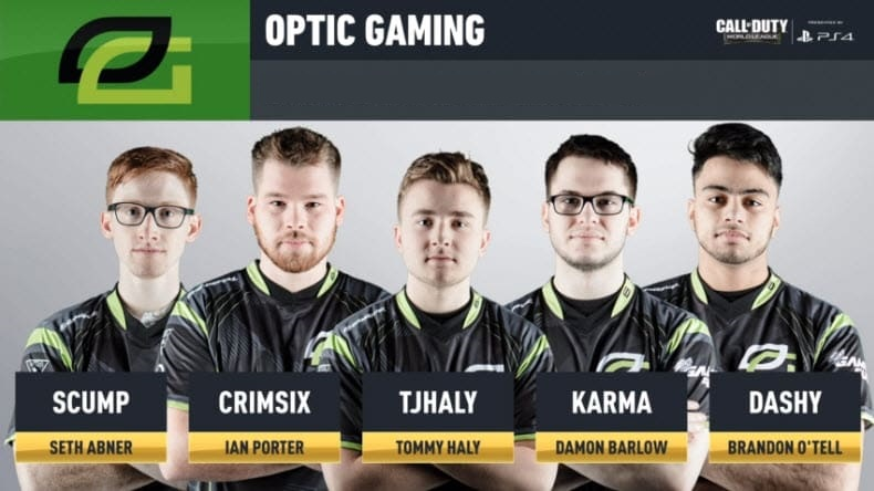 OpTic Gaming 2019 Roster CWL Esports Call of Duty