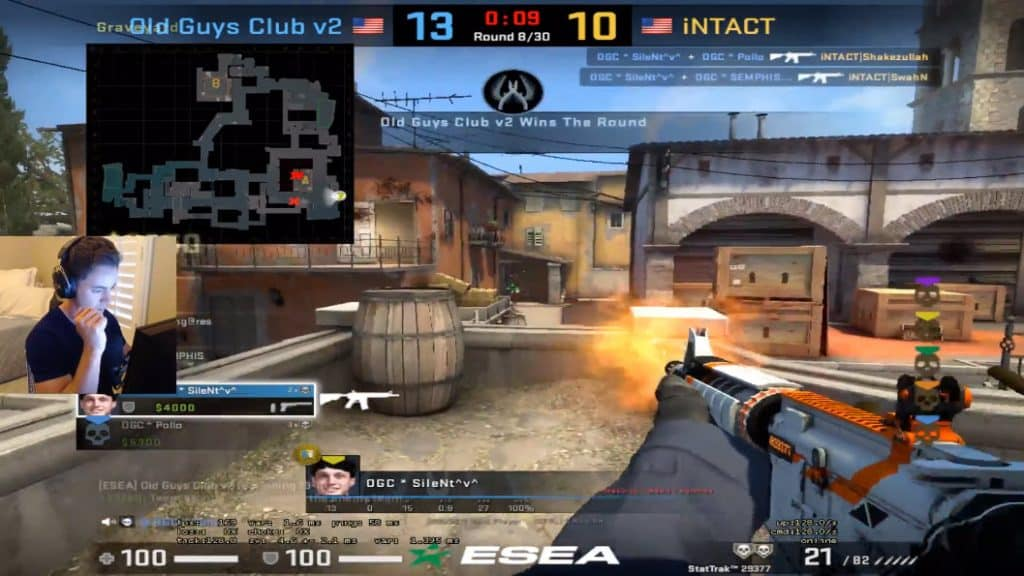 SileNT IQ 200 CSGO Clutch with Sgares Event ESEA Season 30 Esports