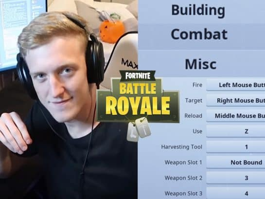 Tfue Keybind Settings