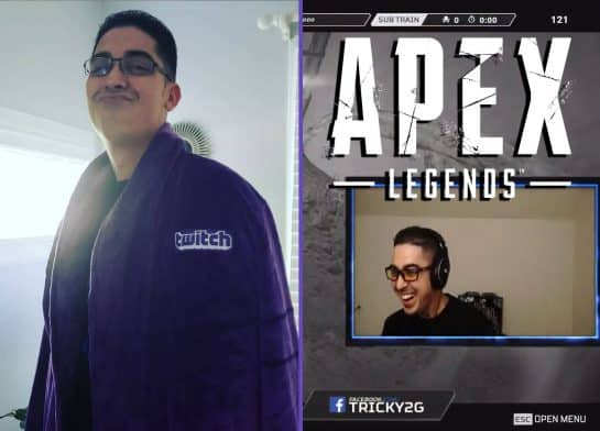 Trick2G Gets Eliminated in Apex Legends. Starts to Laugh Hilarious