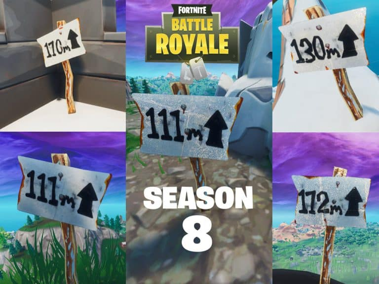 All 5 Highest Elevations Fortnite Map Locations For Season 8
