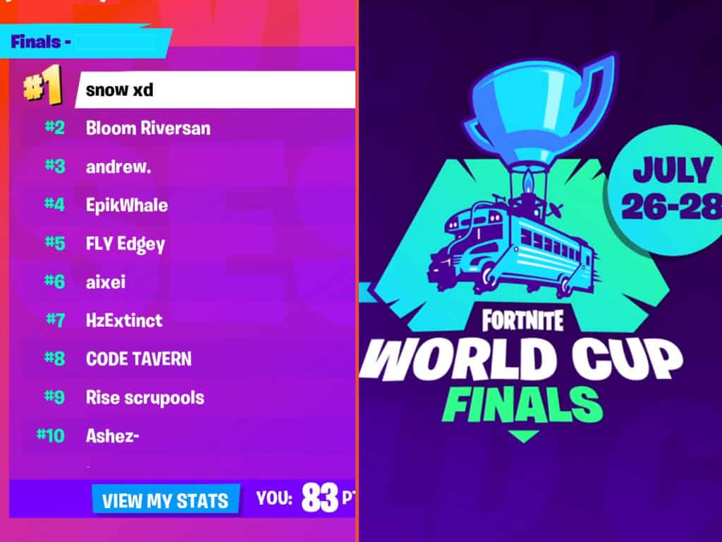 Follow All Solo Finalists Qualified For The Fortnite World Cup Game Life