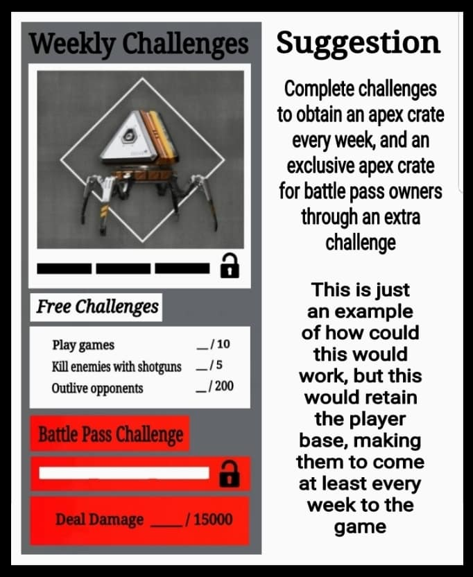 Apex Legends Weekly Challenges Suggestion Mock up Idea