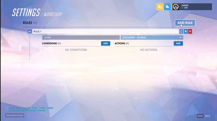 Create my very own game mode Overwatch Workshop