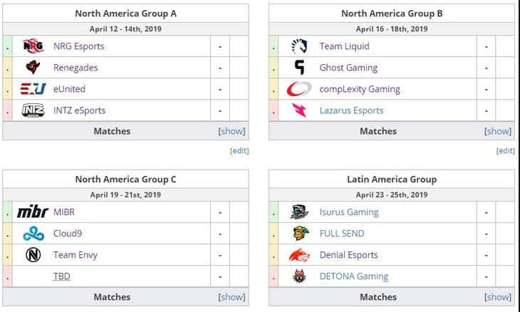 ESL Pro League Season 9 North American Groups