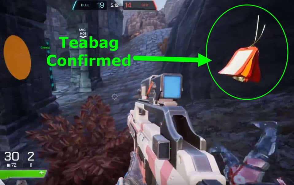 Teabag Confirmed Spitgate Arena Warfare Crouch