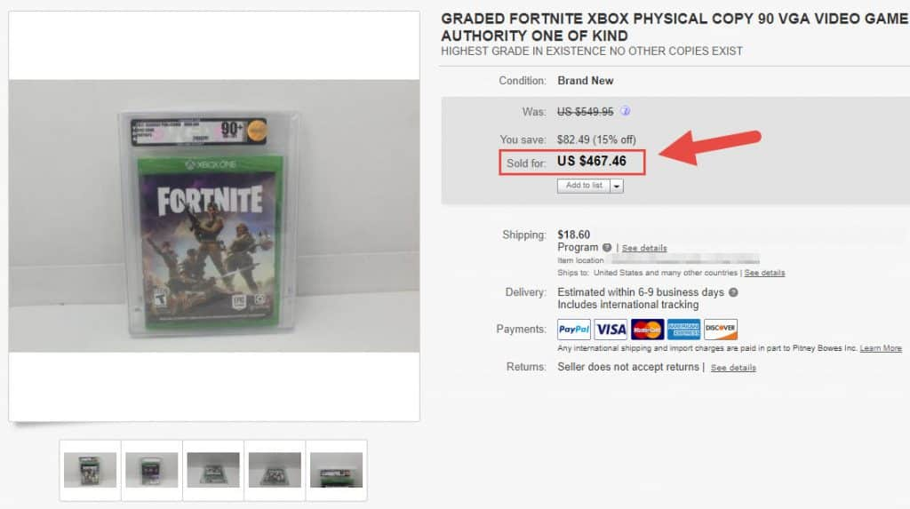 Physical Copies of Fortnite Are Selling for $300  Becoming