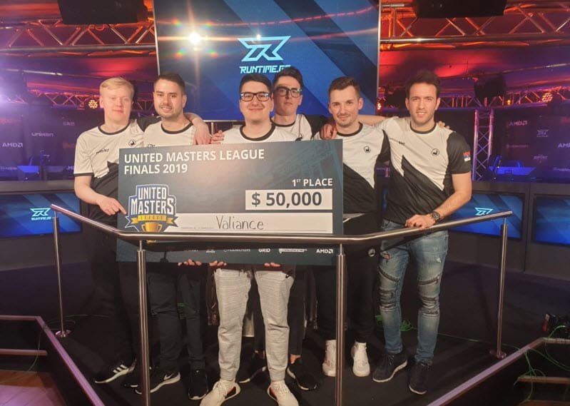 Valiance United Masters Counter Strike CSGO Winners $100,000